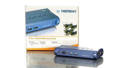 TRENDnet 4 ports USB KVM switch w/cables